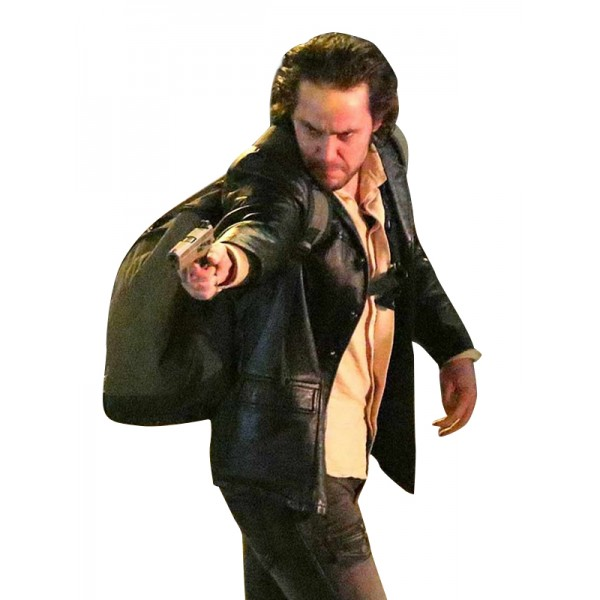 21 Bridges Taylor Kitsch Leather Coat