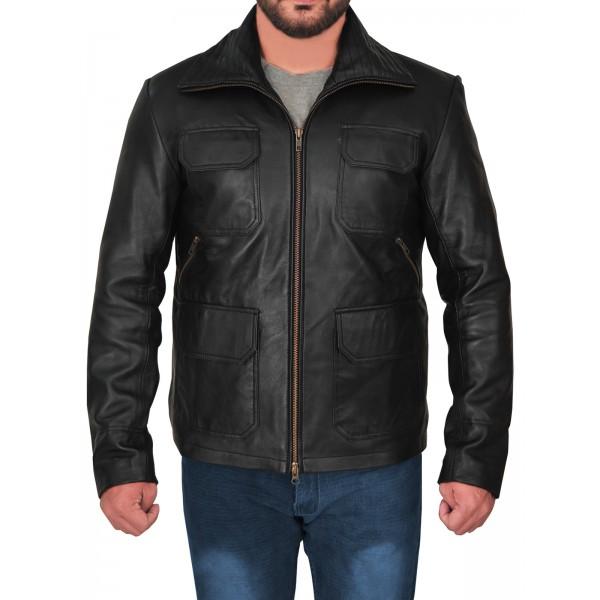 Aaron Paul Breaking Bad leather stylish Jacket