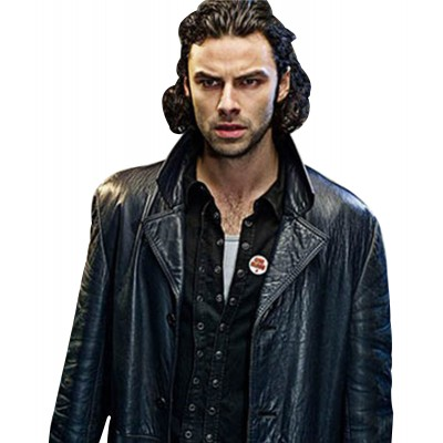 Aidan Turner Being Human Mitchell Leather Coat