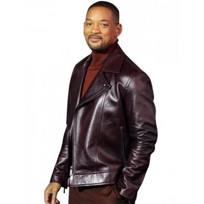 Aladdin Promotion Will Smith Leather Jacket