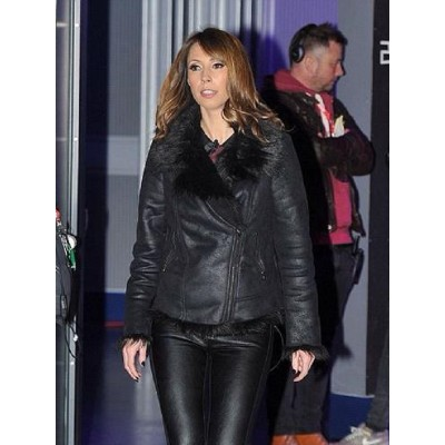Alex Jones Fur Leather Jacket