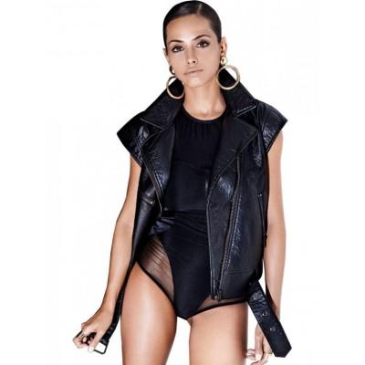 Alexandra Stan Leather vest