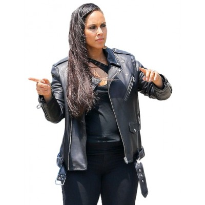 Alicia Keys Black Leather Jacket