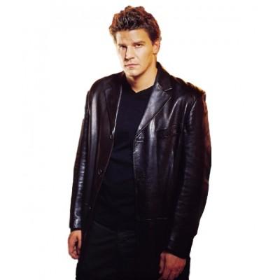 Angel David Boreanaz Long leather Coat
