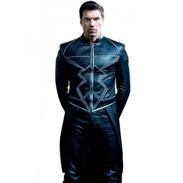 Anson Mount Inhumans Black Bolt Leather Jacket For Men