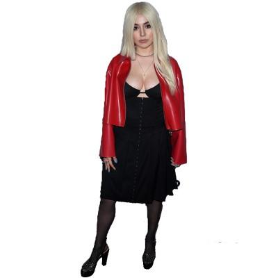 Ava Max Stylish Leather Jacket
