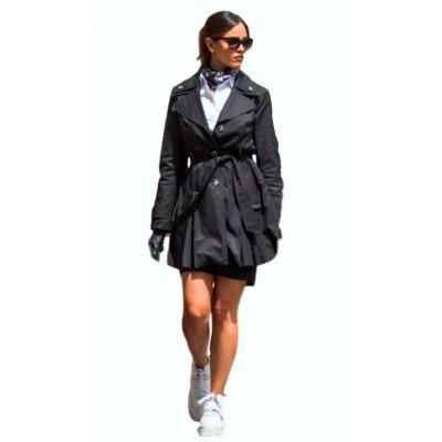 Baby Driver Eiza González Black Coat