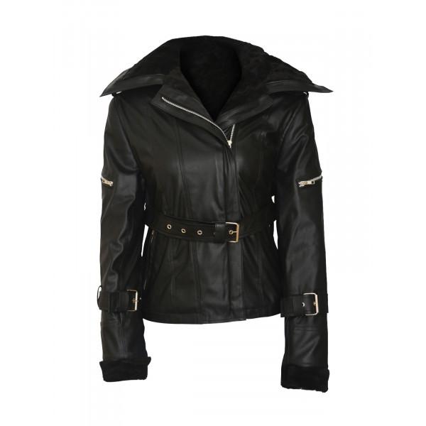 Beautiful Emma Swan Jennifer Morrison Black Jacket