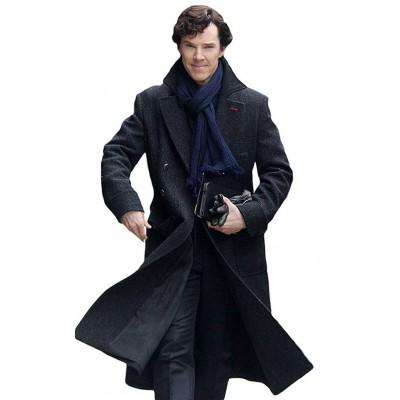 Benedict Cumberbatch Sherlock Black Coat