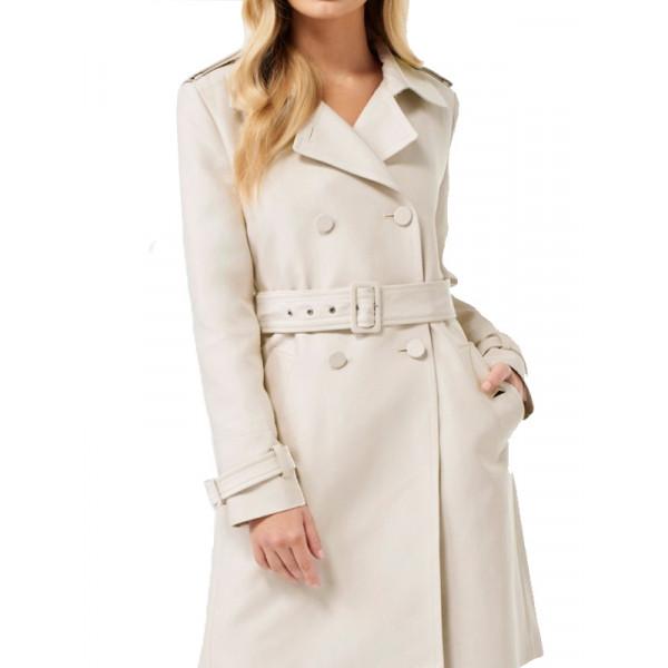 Betty Cooper Cream Trench Coat