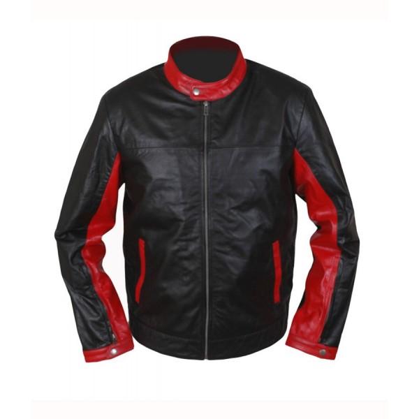 Dark Knight Christian Bale Cafe Racer Leather Jacket