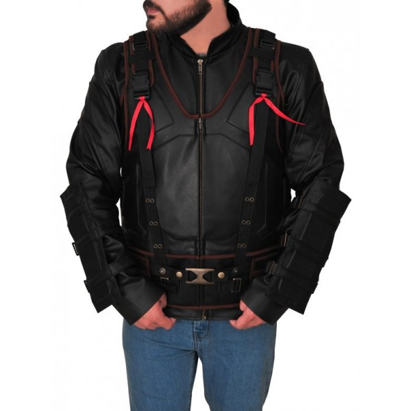 Dark Knight Rises Tom Hardy Leather Jacket