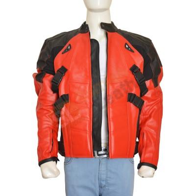Deadpool Costume Motorcycle Leather Jacket