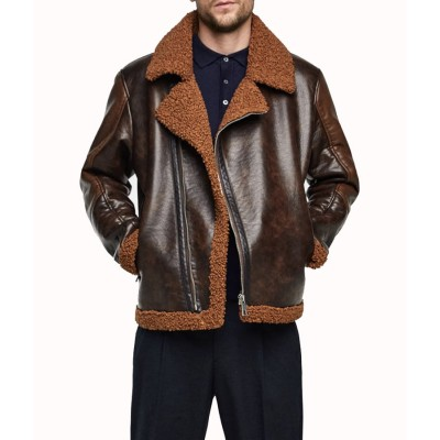 Dean Ambrose Shearling Leather Jacket