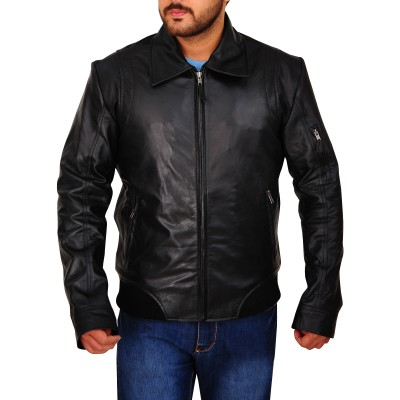 Dwayne Johnson Faster leather Jacket