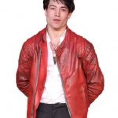 Ezra Miller Justice League Primer Red Leather Jacket