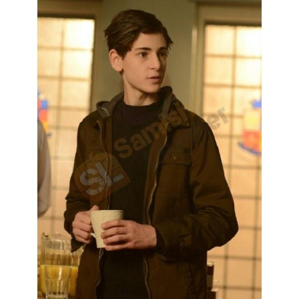 Gotham David Mazouz Brown Jacket