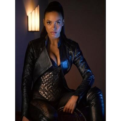 Gotham Jessica Lucas leather Jacket