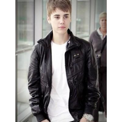 Heathrow Airport Justin Bieber Black Jacket