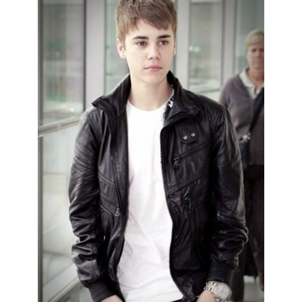 Heathrow Airport Justin Bieber Black Jacket