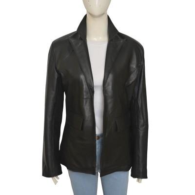 Jennifer Lawrence Joy leather Coat