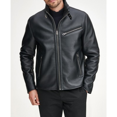 Kevin Faux Leather & Faux Shearling Lined Moto Jacket