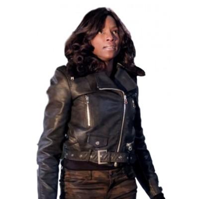 Liza Warner Arrow leather Jacket