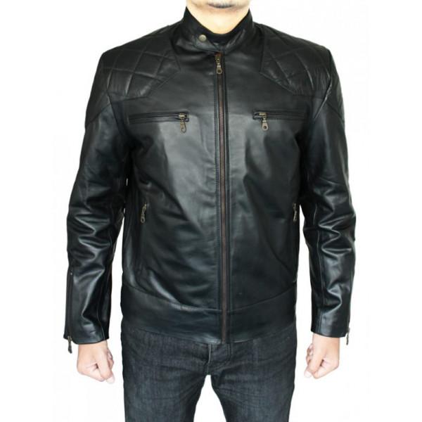 Mads Mikkelsen Hannibal Black Leather Jacket