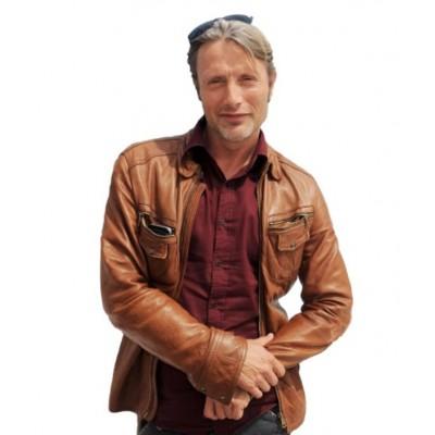 Mads Mikkelsen Hannibal Leather Jacket