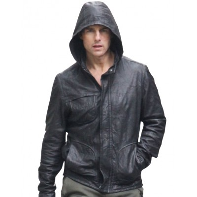 Mission Impossible Ghost Protocol Tom Cruise leather Hooded
