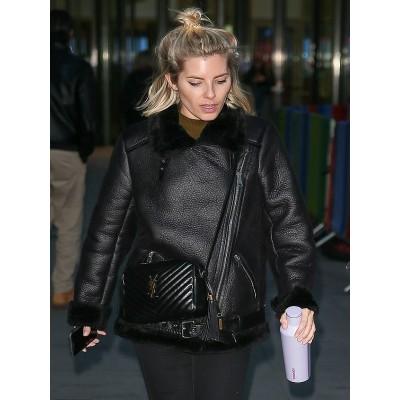 Mollie King Stylish Leather Jacket