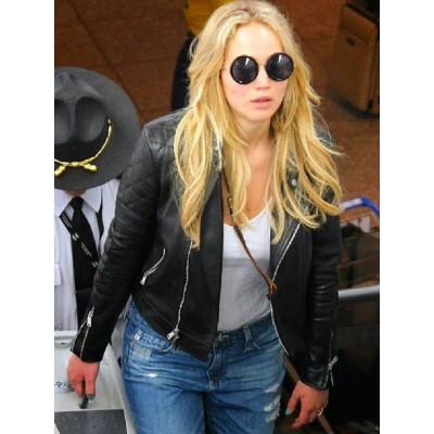 Montreal Airport Jennifer Lawrence Jacket