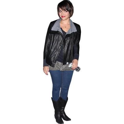 Norah Jones Black Leather Jacket
