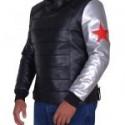 Sebastian Stan Silver Sleeve Jacket