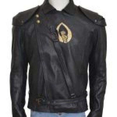 Abigail Breslin Black leather Jacket