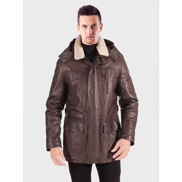 Shearling Sheepskin Trench Coat