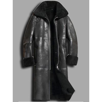Sheepskin Shearling Trench Coat