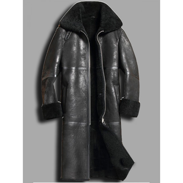 Sheepskin Shearling Trench Coat
