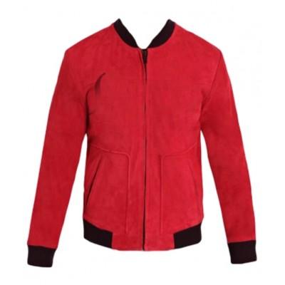 Singer Justin Bieber Suede Leather Jacket