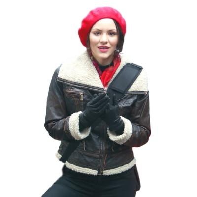Smash Singer Katharine McPhee Brown leather Jacket