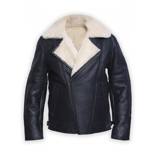 Stylish B3 shearling Leather Jacket