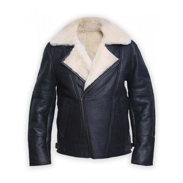 Stylish B3 shearling Leather Jacket