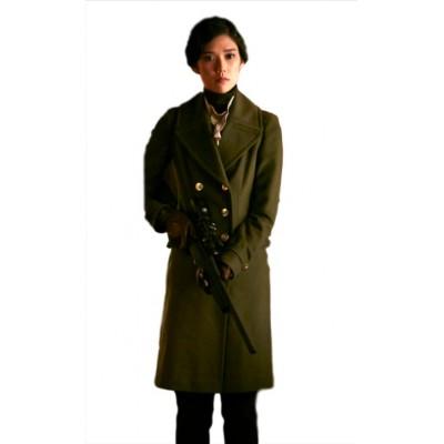 Tao Okamoto Hannibal Green Coat