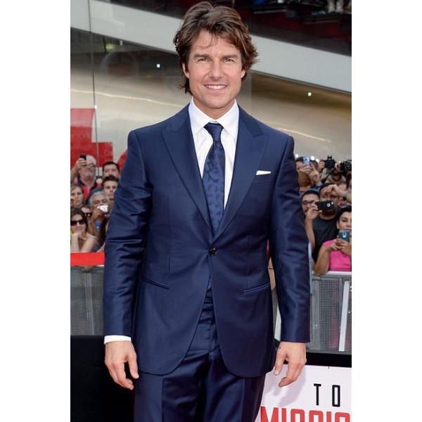 Tom Cruise Ethan Hunt Blue Tuxedo Coat