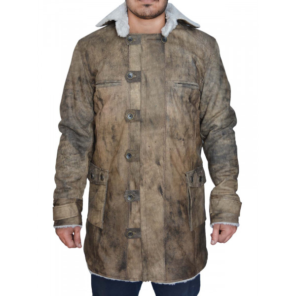 Tom Hardy Bane Distressed leather Coat