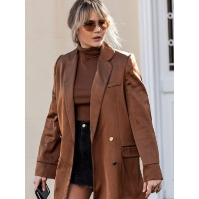 Brooke Testoni Brown Camel Coat For Women